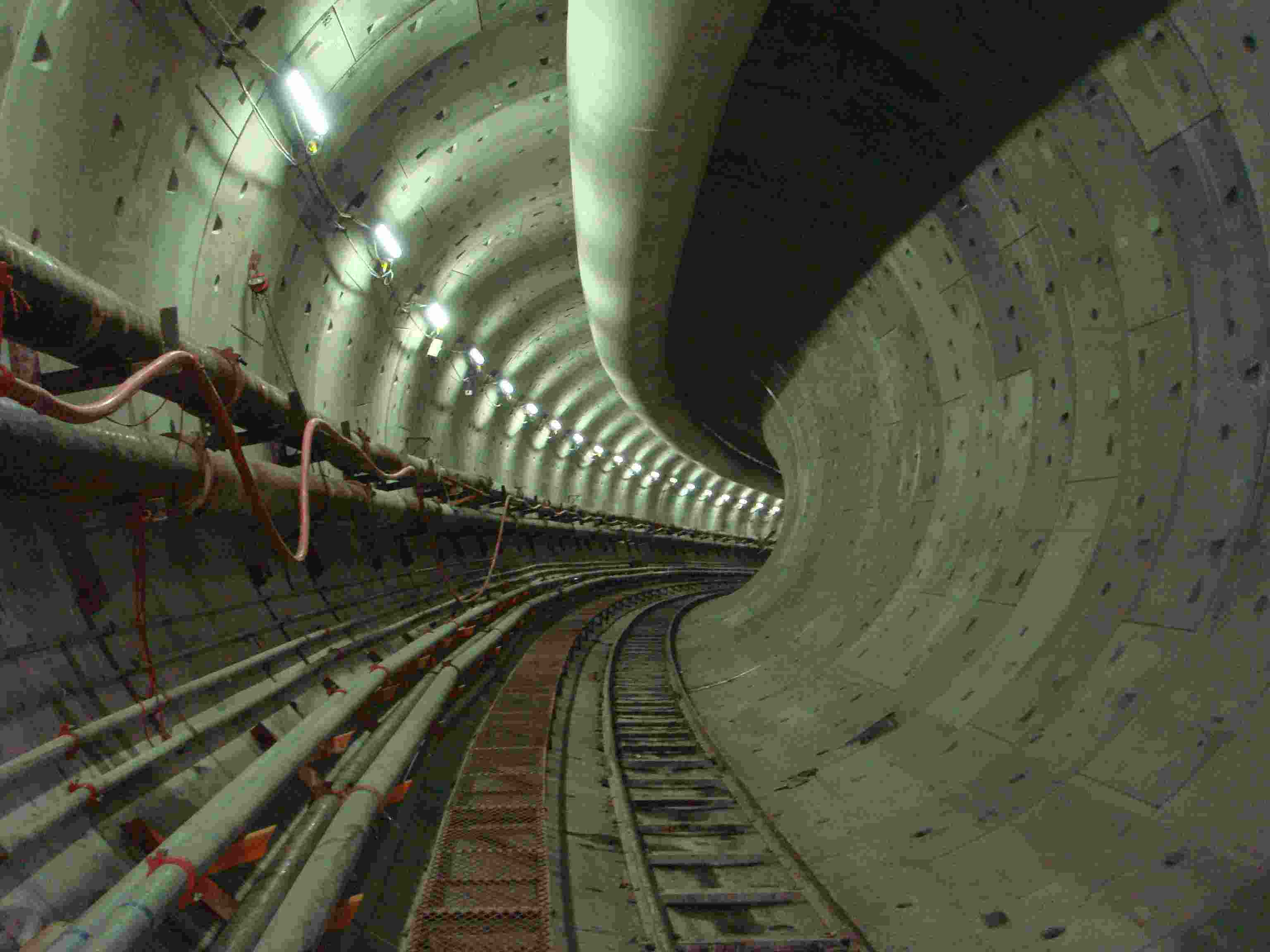 Kai Tak transfer tunnel during construction