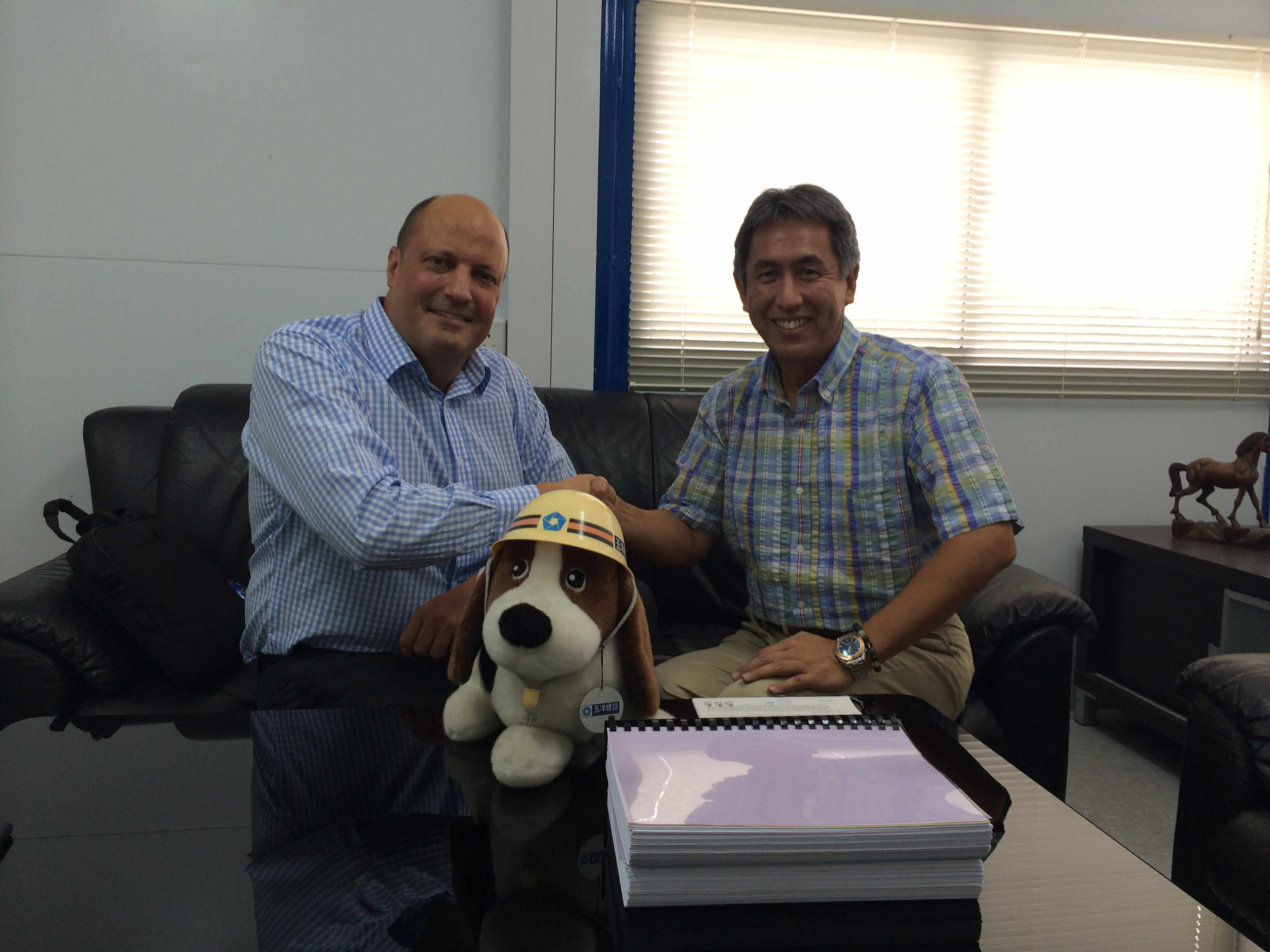 Adam with Keiji Uchida – Project Manager from Penta Ocean Construction Co. Ltd & The Penta Hound